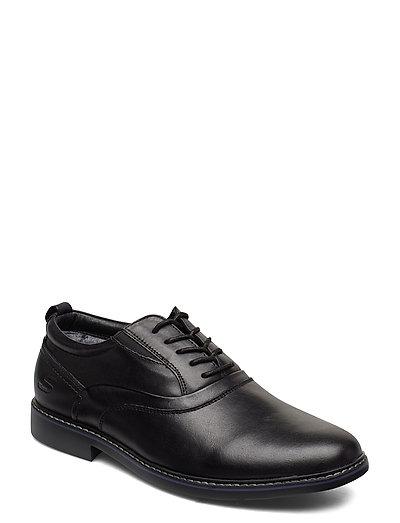 Mens Bergman - Velsom Shoes Business Laced Shoes Schwarz SKECHERS
