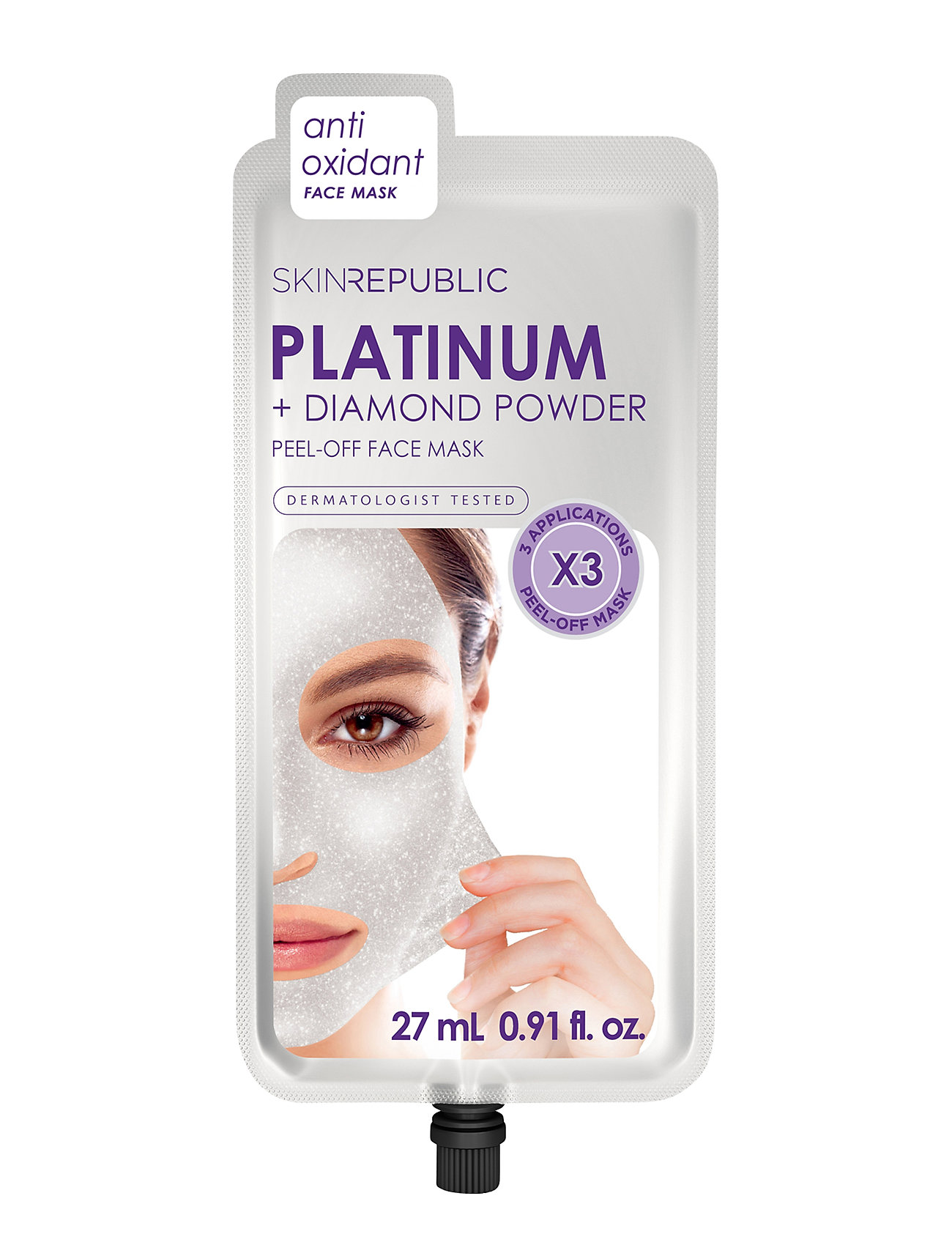 Image of Platinum Peel-Off Face Mask Beauty WOMEN Skin Care Face Sheet Mask Nude Skin Republic (3123265321)