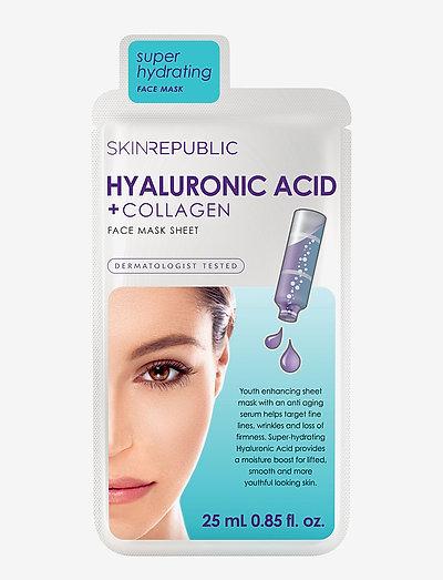 Hyaluronic Acid + Collagen Face Mask - CLEAR