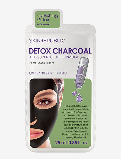 Superfood Detox + Charcoal Face Mask - BLACK