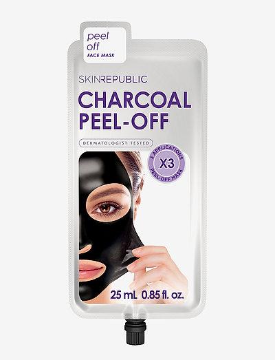 Charcoal Peel-off Face Mask (3masks) - BLACK