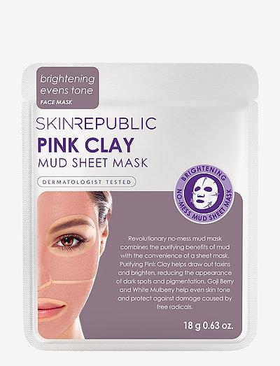 Pink Clay Mud Sheet Face Mask - PINK