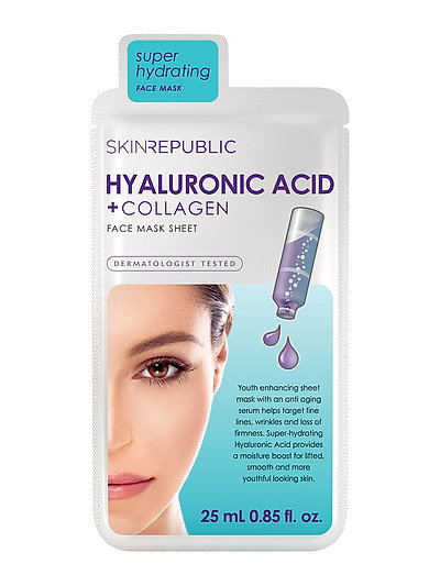 Hyaluronic Acid + Collagen Face Mask - CLEAR