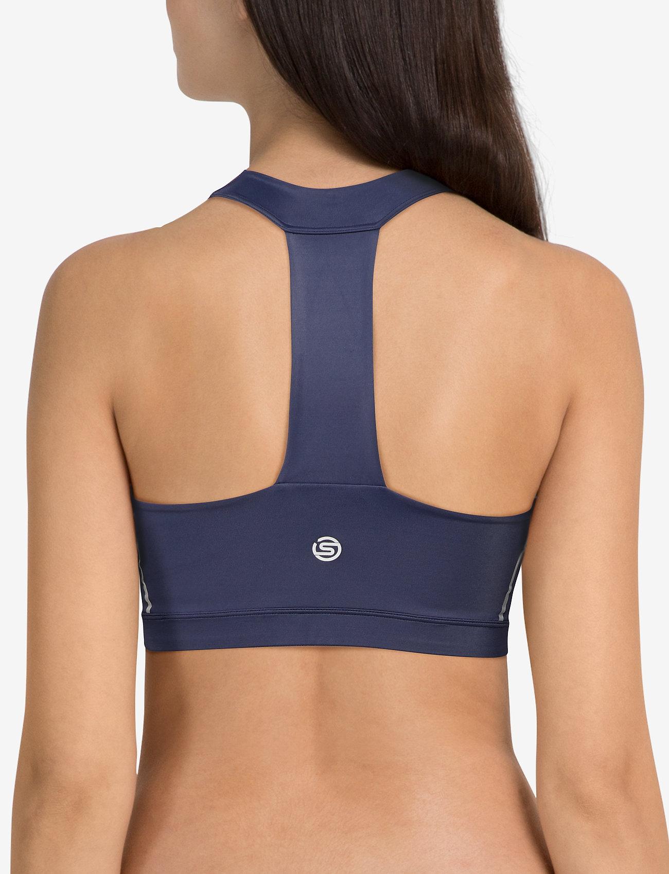 Skins DNAmic Speed Womens Sports Bra - NAVY BLUE