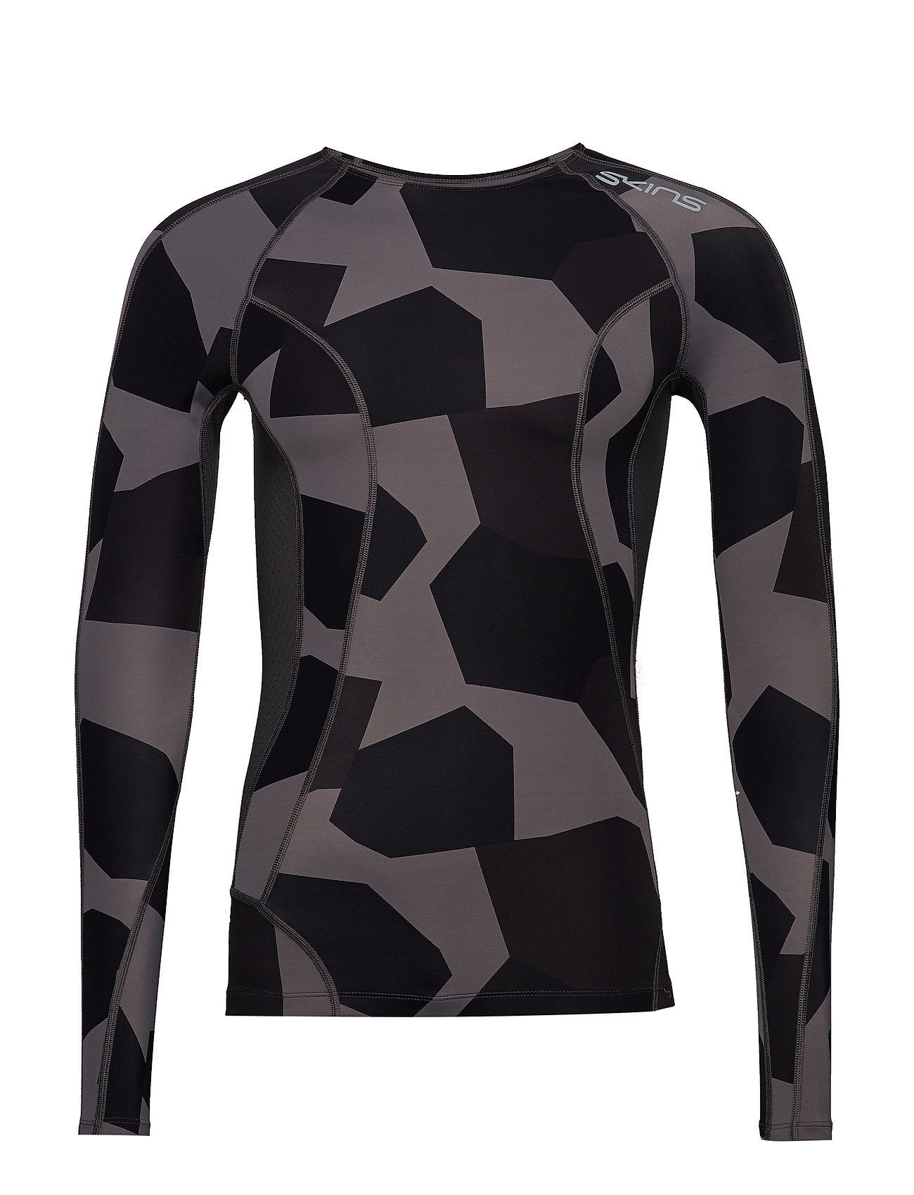 Skins DNAmic Mens L/S Top - SMALL CAMO CHARCHOAL