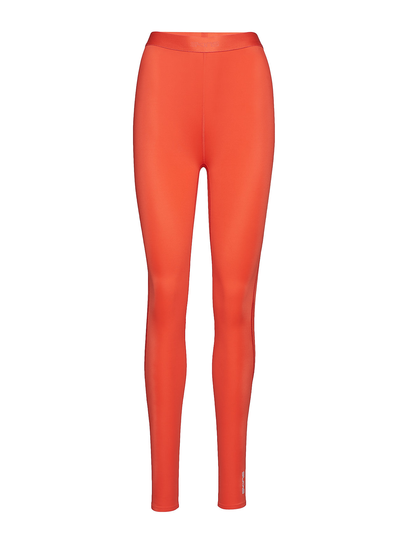 Skins DNAmic Womens Long Tights - CORAL RED