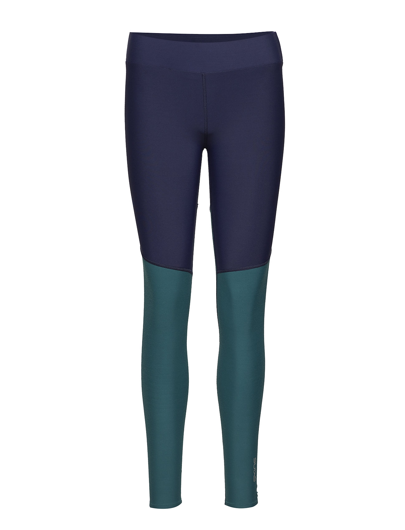 Skins DNAmic Soft Womens Long Tights - NAVY BLUE/DEEP TEAL
