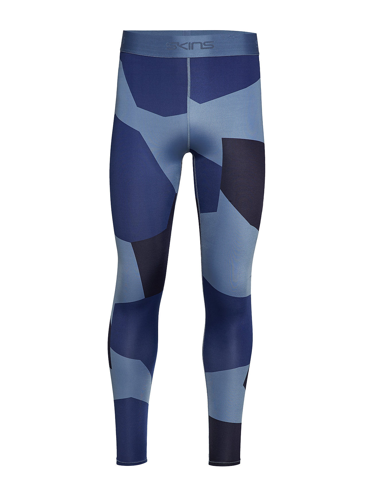 Skins DNAmic Primary Mens Long Tights - DECONST CAMO/CLASSIC BLUE
