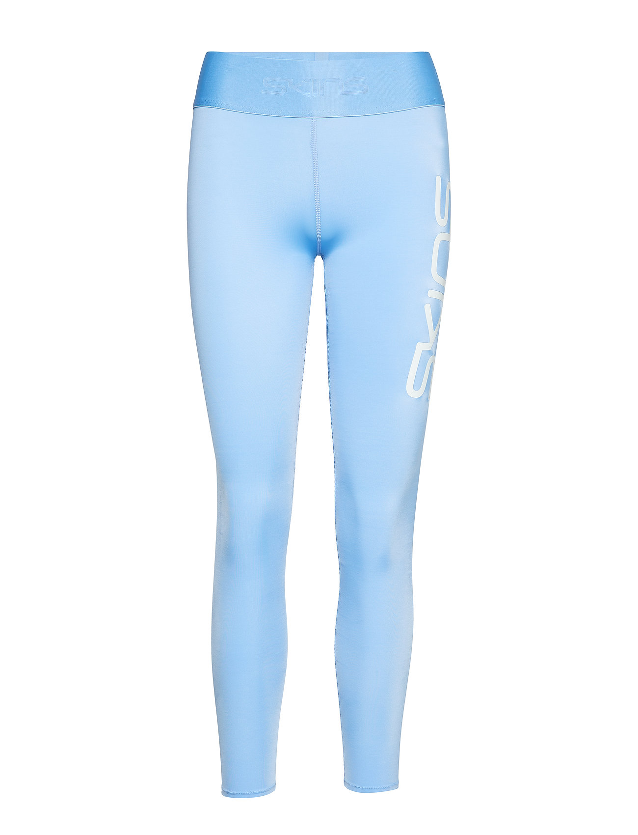 Skins DNAmic Primary Womens Long Tights - SKY BLUE LOGO
