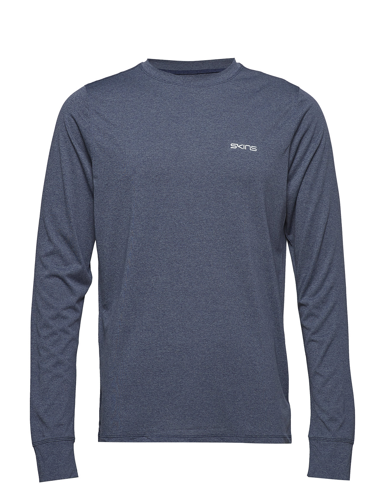 Skins Activewear Bergmar Mens Active Top L/S Round Neck - NAVY BLUE MARLE