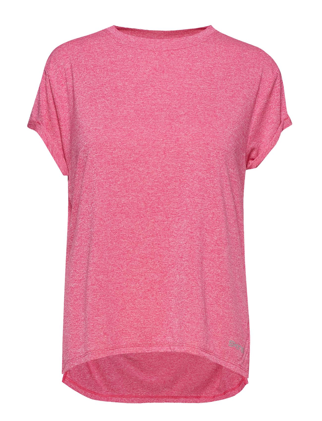Skins Activewear Siken Womens T-Shirt - PINK MARLE