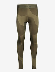 Skins - DNAmic Primary Mens Long Tights - running & training tights - deconst camo utility - 0