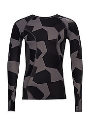 DNAmic Mens L/S Top - SMALL CAMO CHARCHOAL
