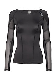 DNAmic Womens L/S Top - BLACK/BLACK
