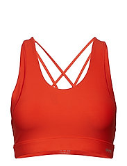 DNAmic Soft Womens Sports Bra - CORAL RED