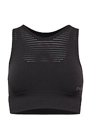 DNAmic Seamless Square Womens Sports Bra - BLACK