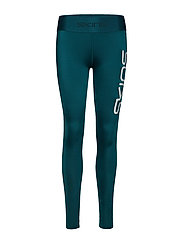 DNAmic Primary Womens Long Tights - DEEP TEAL LOGO