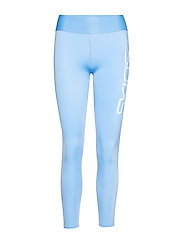 DNAmic Primary Womens Long Tights - SKY BLUE LOGO