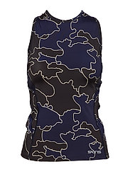 DNAmic Primary Womens S/L Top - COASTLINES BLUE