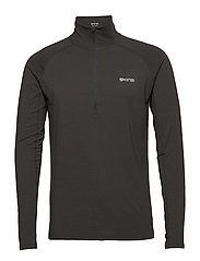 Activewear Unden Light Midlayer Mens L/S Fleece - CHARCOAL MARLE