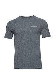 Activewear Bergmar Mens Active Top S/S Round Neck - CHARCOAL MARLE