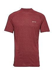Activewear Bergmar Mens Active Top S/S Round Neck - RED MARLE