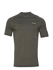 Activewear Bergmar Mens Active Top S/S Round Neck - UTILITY MARLE