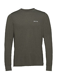 Activewear Bergmar Mens Active Top L/S Round Neck - UTILITY MARLE