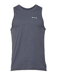 Activewear Bergmar Mens Active Singlet Top - NAVY BLUE MARLE