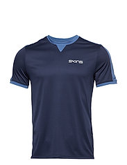 Activewear Sveg Mens Training Top S/S Round Neck - CLASSIC BLUE
