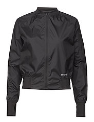 Activewear Trylen Womens Bomber Jacket - BLACK