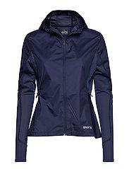 Activewear Gylle Enigineered Womens Wind Jacket - NAVY BLUE