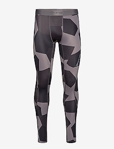 DNAmic Mens Long Tights - SMALL CAMO CHARCHOAL