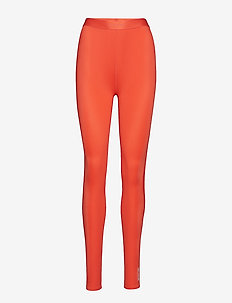 DNAmic Womens Long Tights - CORAL RED