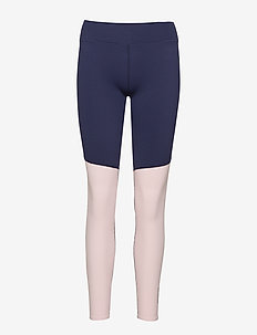 DNAmic Soft Womens Long Tights - CAMEO PINK/NAVY BLUE