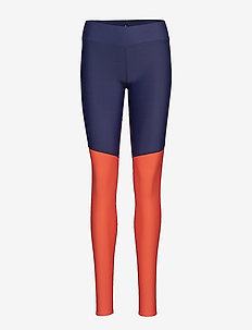DNAmic Soft Womens Long Tights - NAVY BLUE/CORAL RED