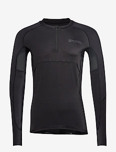 DNAmic Ultimate Mens Long Sleeve Top 1/2 Zip - BLACK