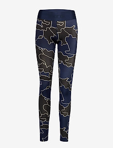 DNAmic Primary Womens Long Tights - COASTLINES BLUE