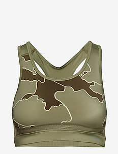 DNAmic Primary Womens Sports Bra - MYRIAD OF COASTLINES OLIVE GREEN