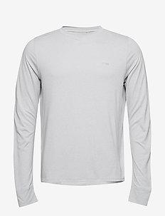 Activewear Bergmar Mens Active Top L/S Round Neck - SILVER MARLE
