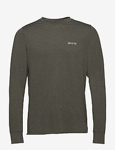 Activewear Bergmar Mens Active Top L/S Round Neck - UTILITY MARLE