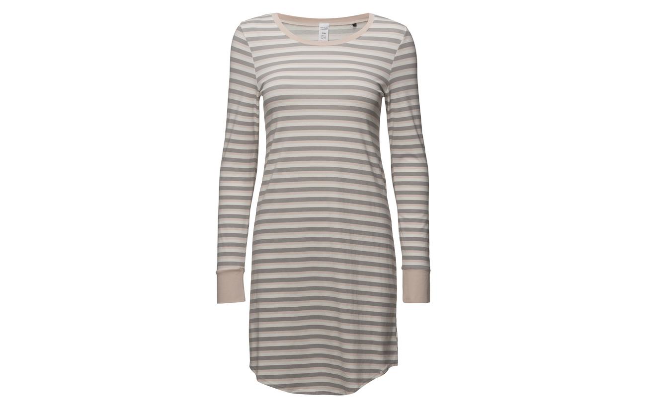 4 Sleepshirt 96 Elastane Silversconce L slv Stripe L Skiny Coton 1a8vqwx