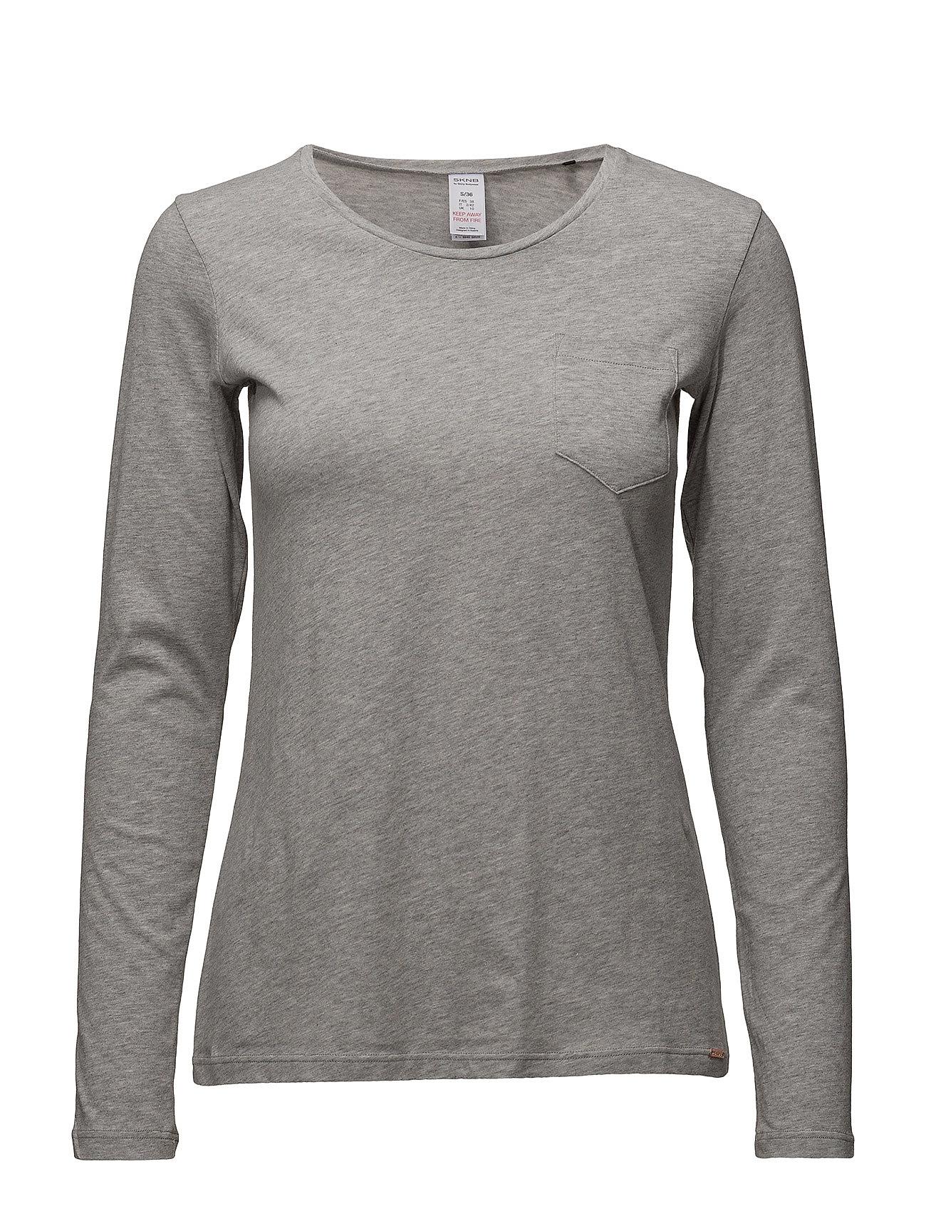 Skiny L. shirt l/slv - PEPPLE GREY MELANGE