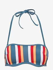 Skiny - L. bandeau bra - bikinitopper - bluered stripe - 0