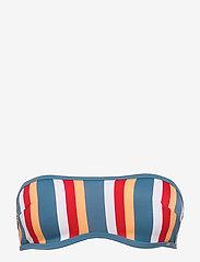 Skiny - L. bandeau bra - bikinitopper - bluered stripe - 1