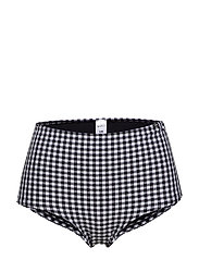 L. high-waist panty - BLACK VICHY