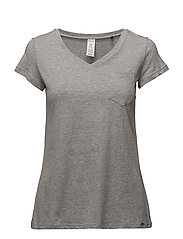 L. shirt s/slv - PEPPLE GREY MELANGE