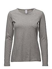 L. shirt l/slv - PEPPLE GREY MELANGE