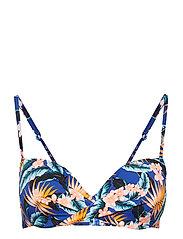 L. padded bra - BLUE HAWAIIAN