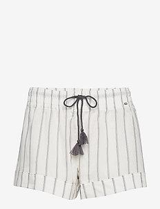 L. shorts - IVORY STRIPE